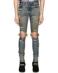 Amiri - Glitter-striped Jeans - Lyst