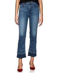 3x1 - W4 Abigail Slim Split Crop Jeans - Lyst