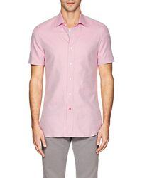 Isaia - Neat Cotton Shirt - Lyst