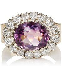 renee lewis amethyst u0026 white diamond ring lyst