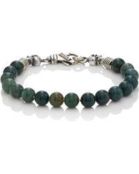 Emanuele Bicocchi - Green Quartz Beaded Bracelet - Lyst