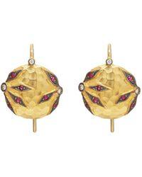 Cathy Waterman - Floral Drop Earrings - Lyst