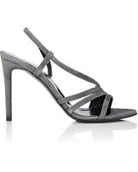 Barneys New York - Suede Slingback Sandals - Lyst