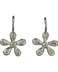 Cathy Waterman - Pave Diamond Medium Daisy Earrings - Lyst