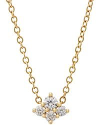 Sara Weinstock - Diamond Cluster Necklace - Lyst