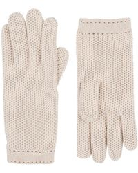 Barneys New York - Woven Cashmere Gloves - Lyst