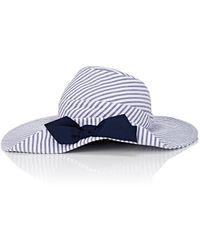 Jennifer Ouellette - Striped Seersucker Beach Hat - Lyst