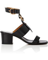 Chloé - Kingsley Leather Sandals - Lyst