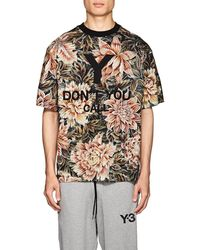 Y-3 - Embroidered Floral Cotton T - Lyst