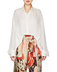 By. Bonnie Young - Silk Crepe Blouse - Lyst