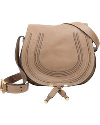 f26150a9be Chloé Marcie nude Small Saddle Bag in Blue - Lyst