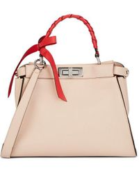 Lyst - Fendi Peekaboo Mini Shoulder Bag 26b8918a8256f