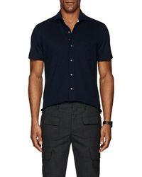 Isaia - Wool Piqué Shirt - Lyst