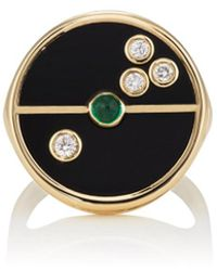 Retrouvai - Compass Signet Ring - Lyst