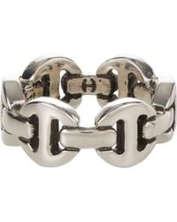 Hoorsenbuhs - Silver Classic Tri-link Ring - Lyst