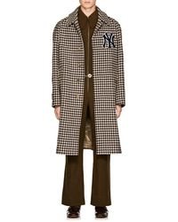 84730add3 Gucci - Ny Yankeestm Houndstooth Wool Coat - Lyst