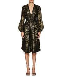 A.L.C. - Samantha Leopard-pattern Silk-blend Midi-dress - Lyst