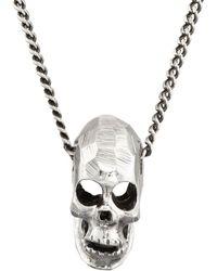Emanuele Bicocchi - Skull Pendant Necklace - Lyst
