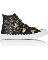 Chloé - Kyle Studded Leather Sneakers - Lyst