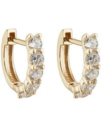 Carbon & Hyde - Sparkler Huggie Hoop Earrings - Lyst