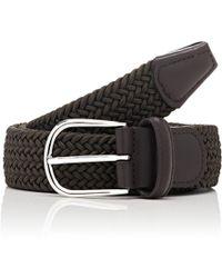 Barneys New York - Braided Stretch Belt - Lyst