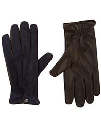 Barneys New York - Cashmere-lined Suede & Leather Gloves - Lyst