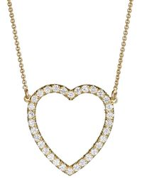 Jennifer Meyer - Diamond Large Open Heart Necklace - Lyst