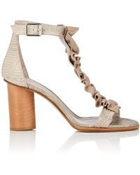 Zero + Maria Cornejo | Amaal Stamped Leather Sandals | Lyst