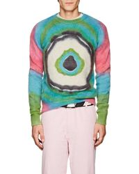 The Elder Statesman - Evil Eye Tie-dyed Cashmere Sweater - Lyst