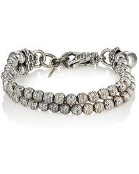 Emanuele Bicocchi - Sterling Silver Beaded Double-strand Bracelet - Lyst