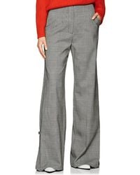 Proenza Schouler - Checked Stretch-wool Wide-leg Trousers - Lyst