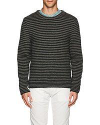 Massimo Alba - Striped Alpaca-blend Crewneck Sweater - Lyst