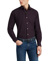 Luciano Barbera - Checked Cotton Flannel Shirt - Lyst