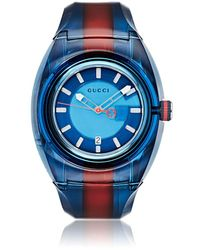 a0161119981 Gucci Ya137102 Unisex Sync Rubber Strap Watch in Metallic for Men - Lyst