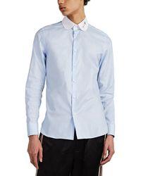 2b69d7e01 Gucci Duke Kingsnake Cotton Poplin Shirt in White for Men - Lyst