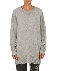 R13 - Oversized Crewneck Sweater - Lyst