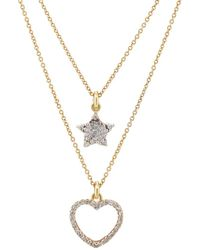 Renee Lewis Star- & Heart-pendant Two-tier Necklace