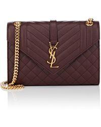 Saint Laurent - Monogram Medium Leather Chain Bag - Lyst