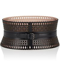 Alaïa - Wide Vienne Leather Belt - Lyst