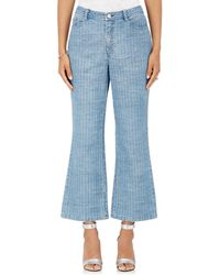 Opening Ceremony - Striped Flared Crop Jeans - Lyst