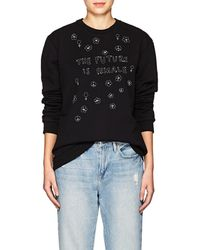 Jimi Roos - Embroidered Cotton Sweatshirt - Lyst