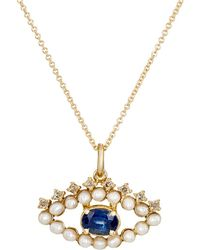 Ileana Makri - Eye Pendant Necklace - Lyst