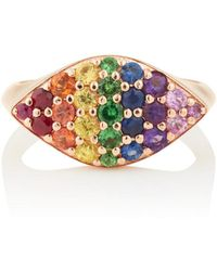 Carbon & Hyde - Rainbow Gemma Pinky Ring - Lyst