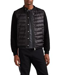Moncler - Down-quilted Cotton Zip-front Jumper - Lyst