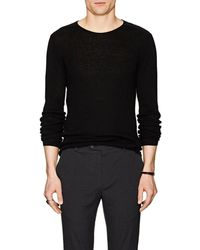 John Varvatos - Lattice-detail Wool-linen Sweater - Lyst