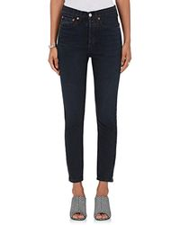 RE/DONE - High Rise Ankle Zip Skinny Jeans - Lyst