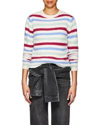 The Elder Statesman - Striped Cashmere Sweater Size M - Lyst
