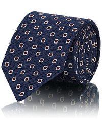 Bigi - Square-dot-print Silk Jacquard Necktie - Lyst