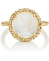 Irene Neuwirth - Rainbow Moonstone Yellow Gold Ring - Lyst