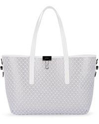 5b42d5549940 Off-White c o Virgil Abloh - Binder-clip Leather-trimmed Shopper